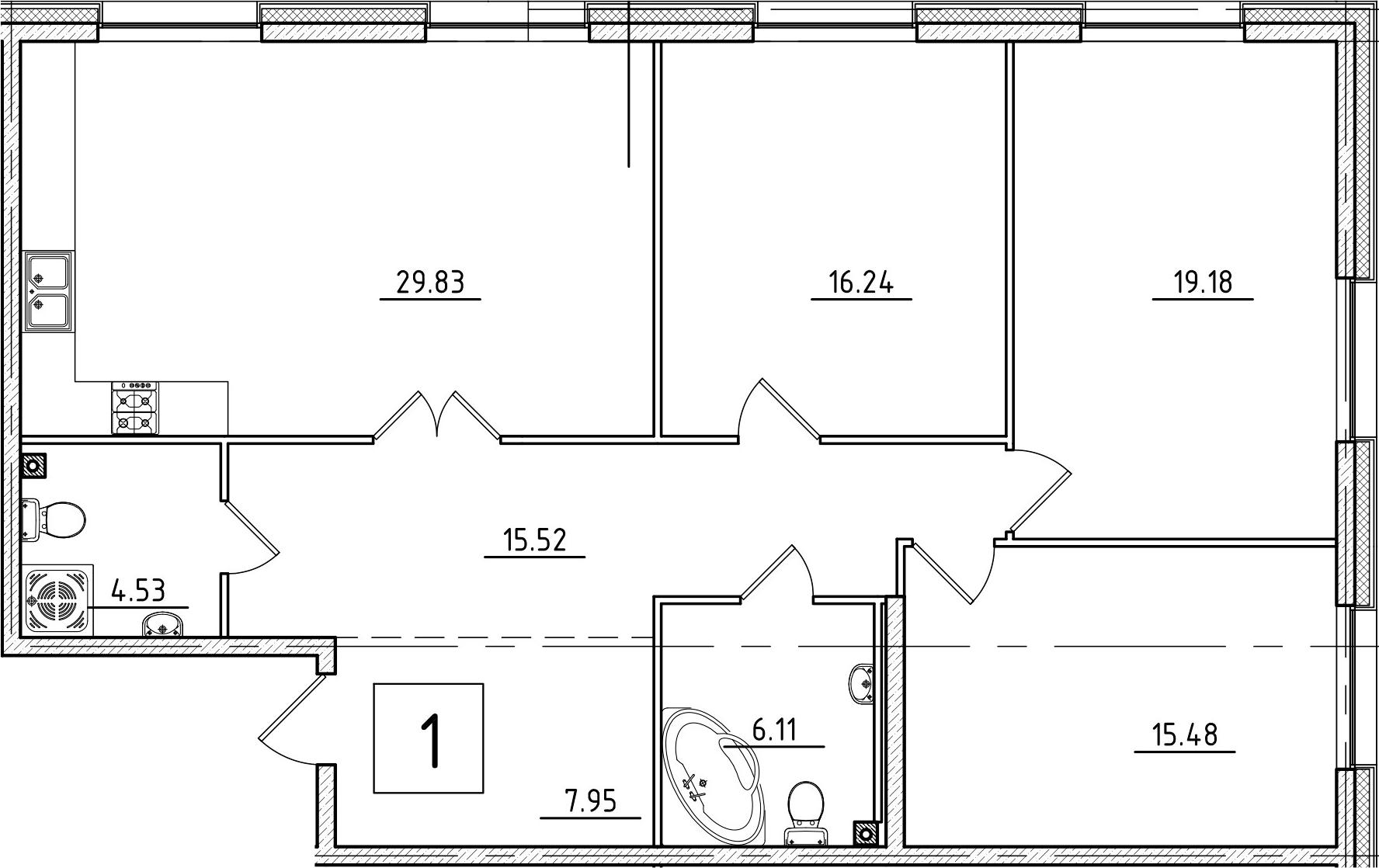 4-к.кв (евро), 114.84 м²