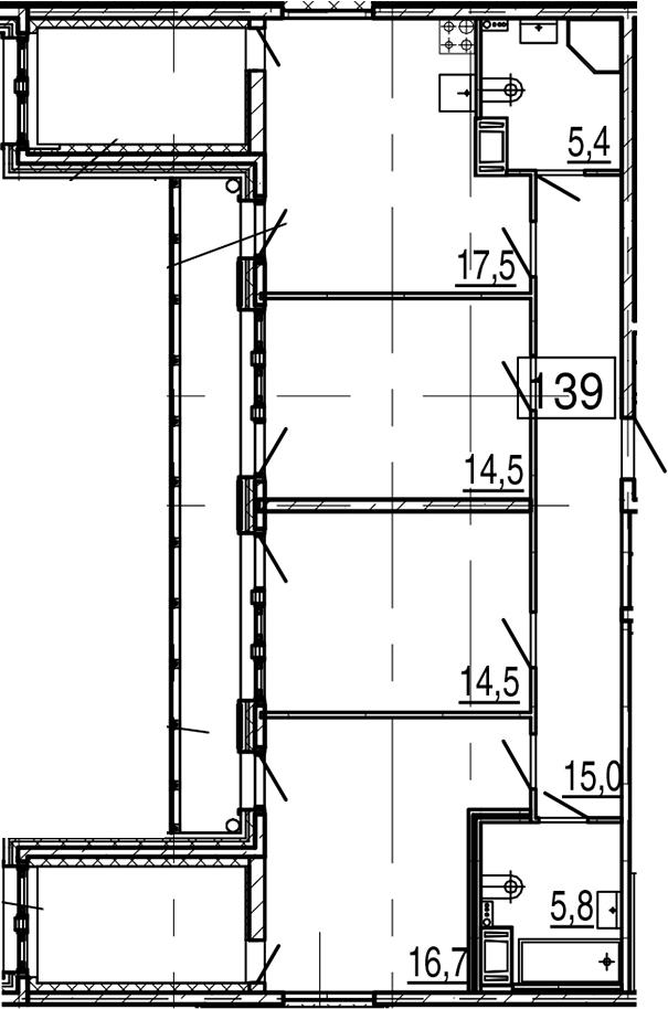 4Е-к.кв, 99.2 м², 10 этаж