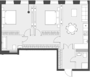 Свободная планировка, 67.7 м²– 2