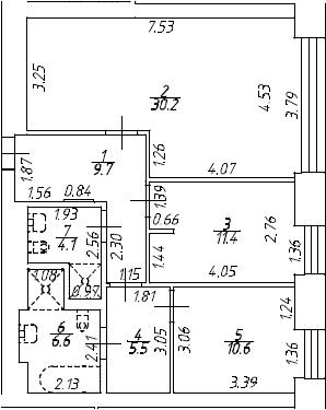 3Е-к.кв, 78.1 м², 8 этаж