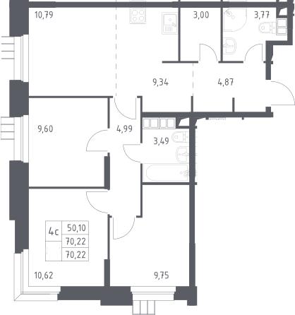 4Е-к.кв, 70.22 м²
