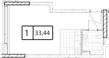 Своб. план., 33.44 м²