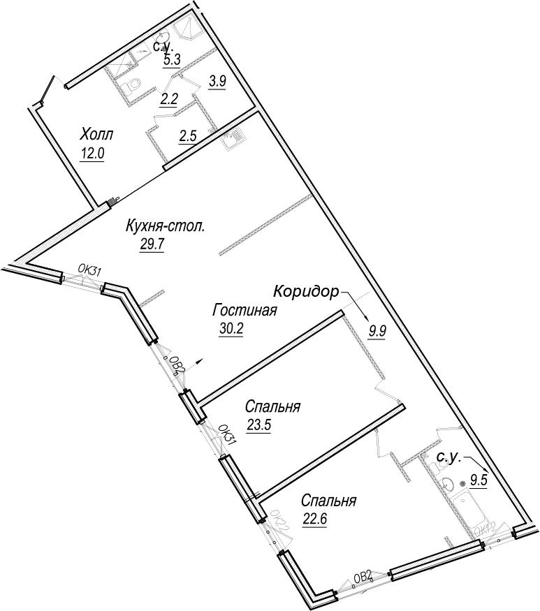 4Е-комнатная, 151.3 м²– 2