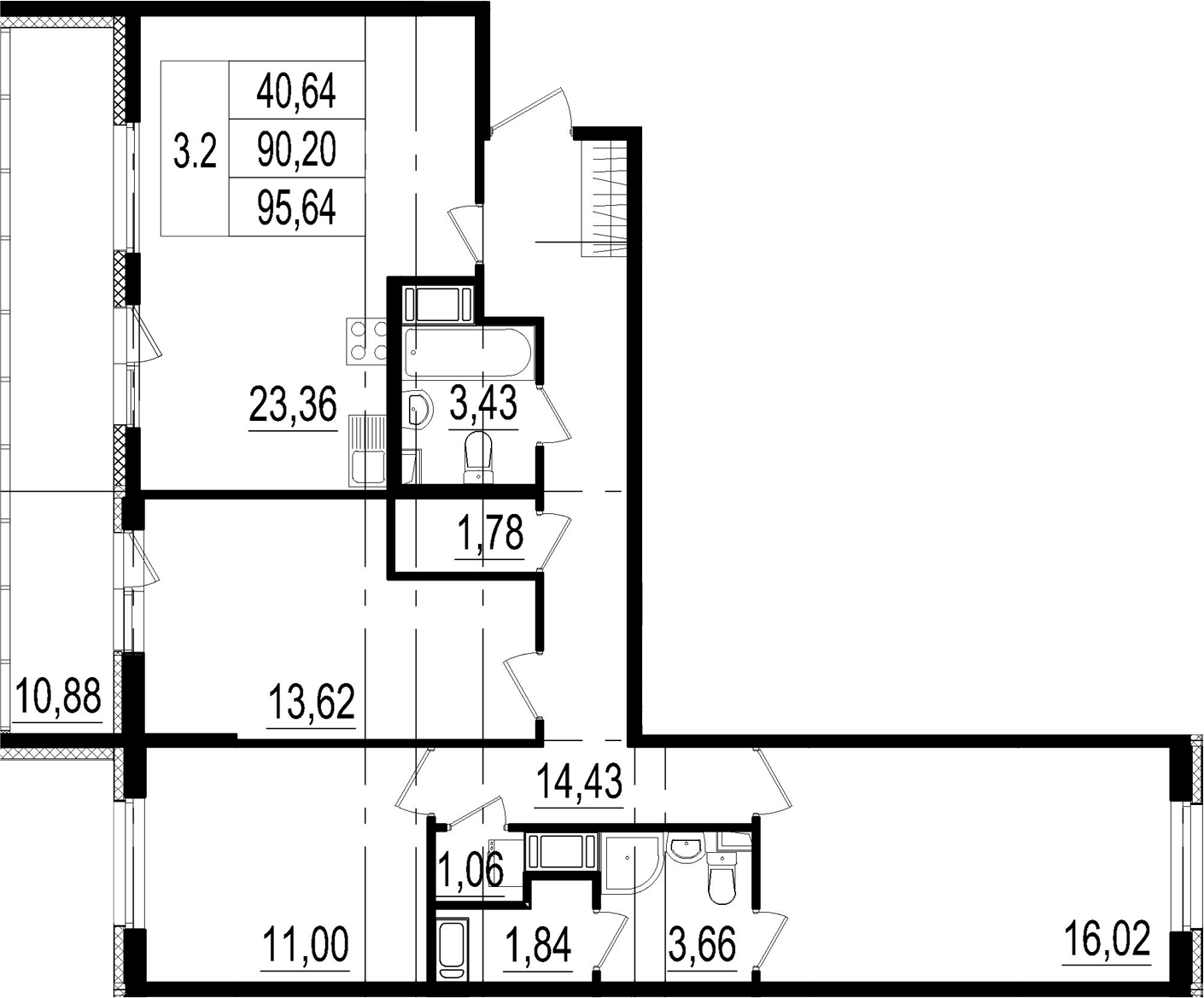 4Е-к.кв, 90.2 м²