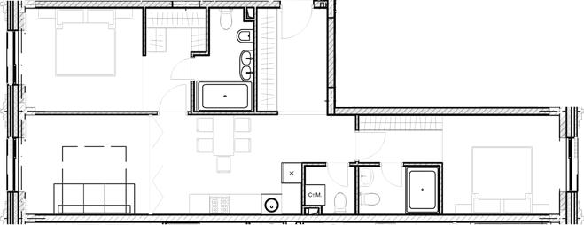 Свободная планировка, 72.7 м²– 2