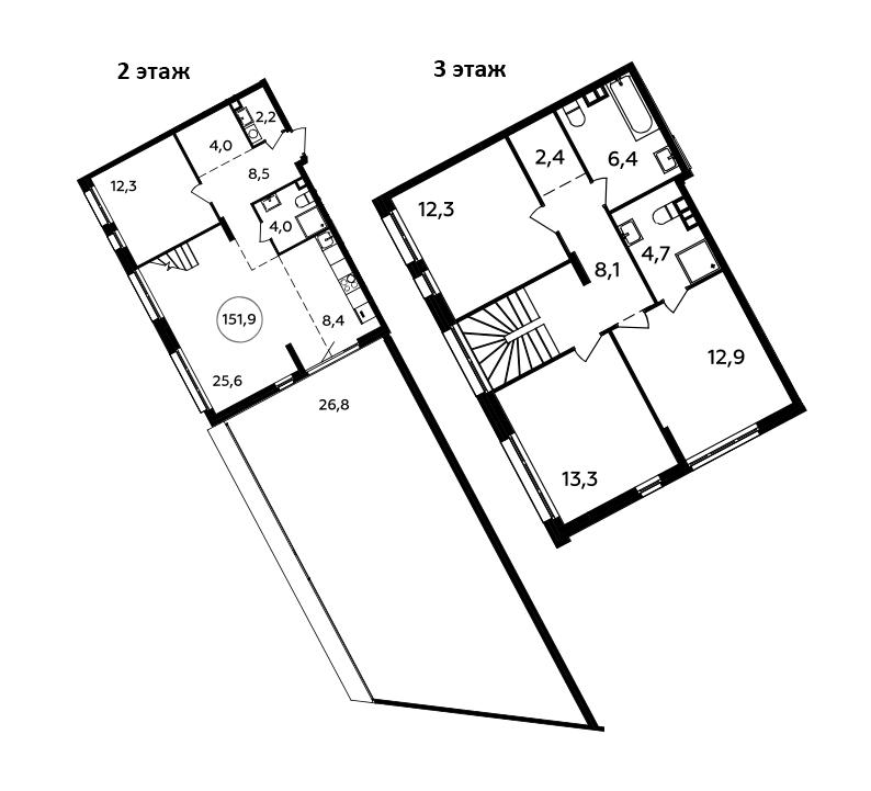 5Е-к.кв, 151.9 м²