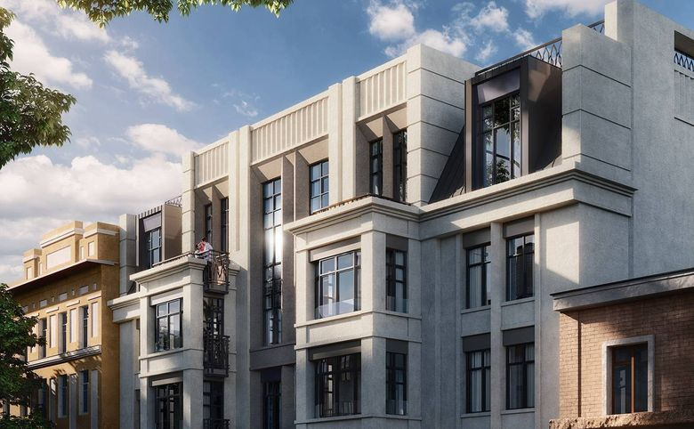 Грациозная классическая архитектура фасадов
