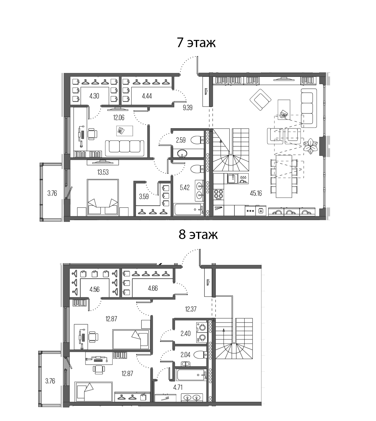 5Е-комнатная, 156.96 м²– 2
