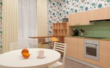 1-комнатная, 41.74 м²– 4