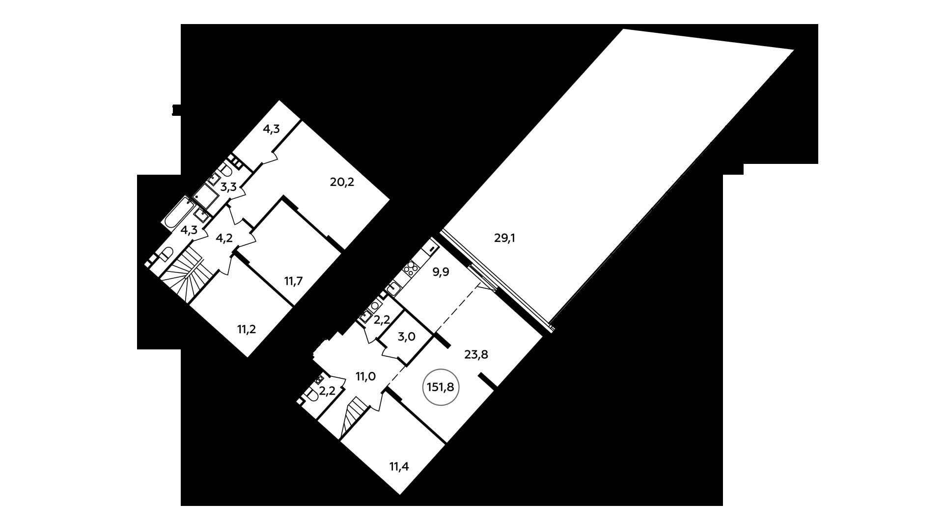 5Е-комнатная, 151.8 м²– 2