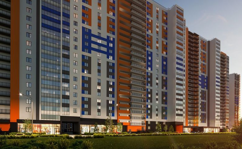 2-комнатная квартира (евро), 43.15 м², 20 этаж – 14