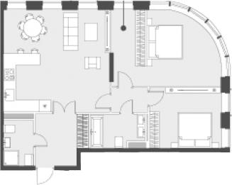 Свободная планировка, 80.5 м²– 2