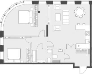 Свободная планировка, 82.6 м²– 2