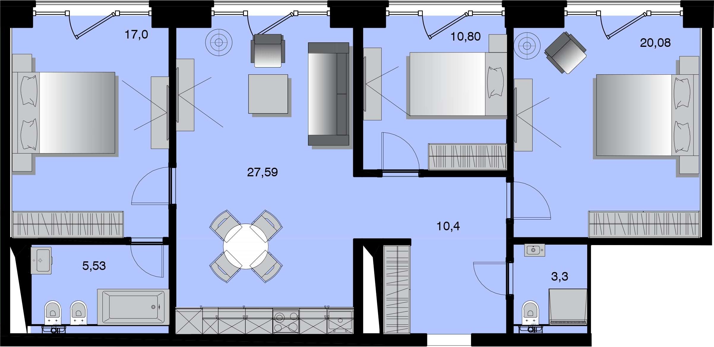 4Е-к.кв, 94.7 м²