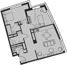 Свободная планировка, 71.41 м²– 2
