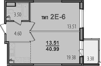 2-к.кв (евро), 44.37 м²