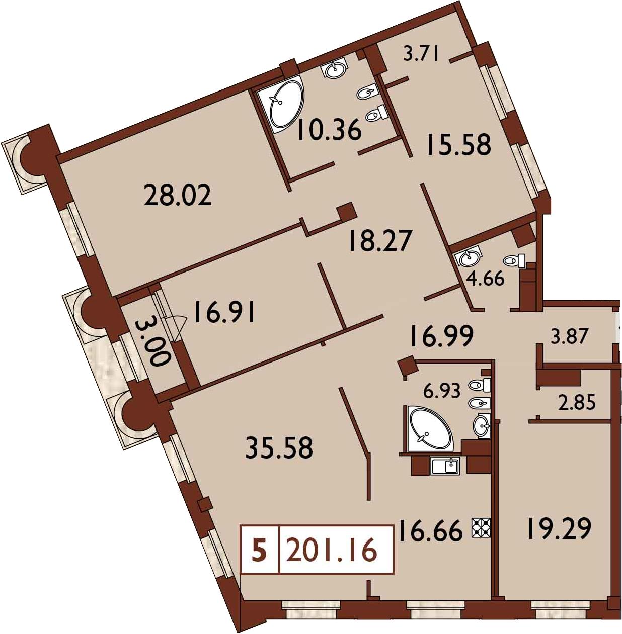 5-к.кв, 204.63 м²