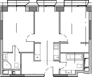 2-комнатная, 59.38 м²– 2