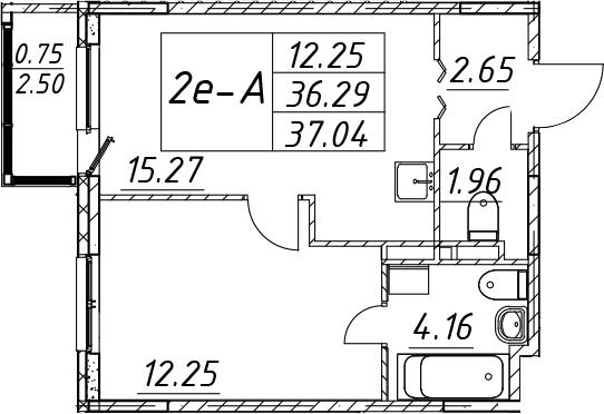 2-к.кв (евро), 38.79 м²