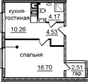 1-к.кв, 40.1 м², 13 этаж