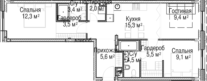 4-к.кв (евро), 70.6 м²