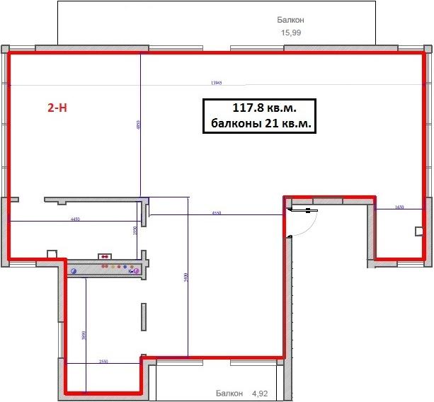 Свободная планировка, 121.3 м²– 2