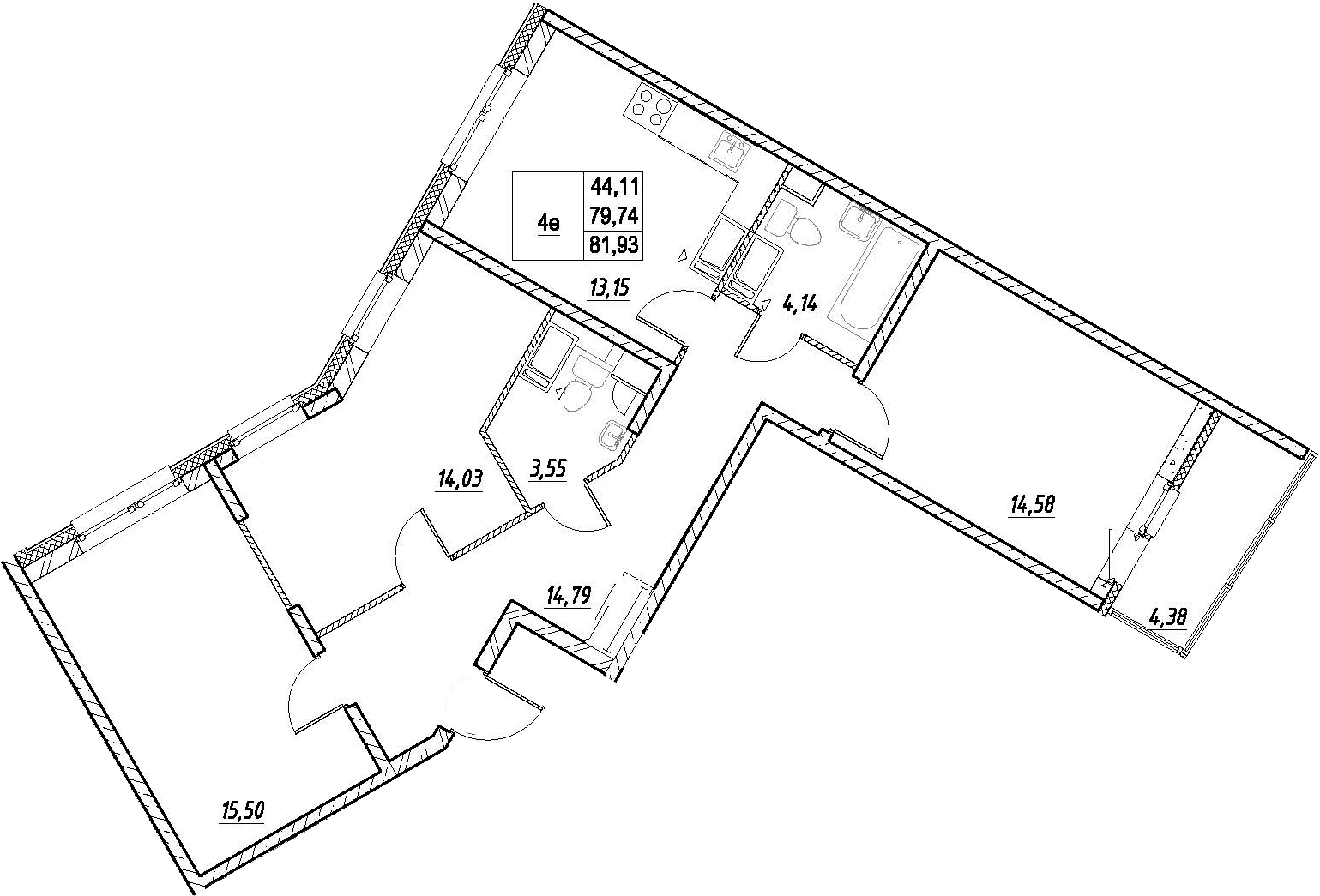 4Е-к.кв, 81.93 м²