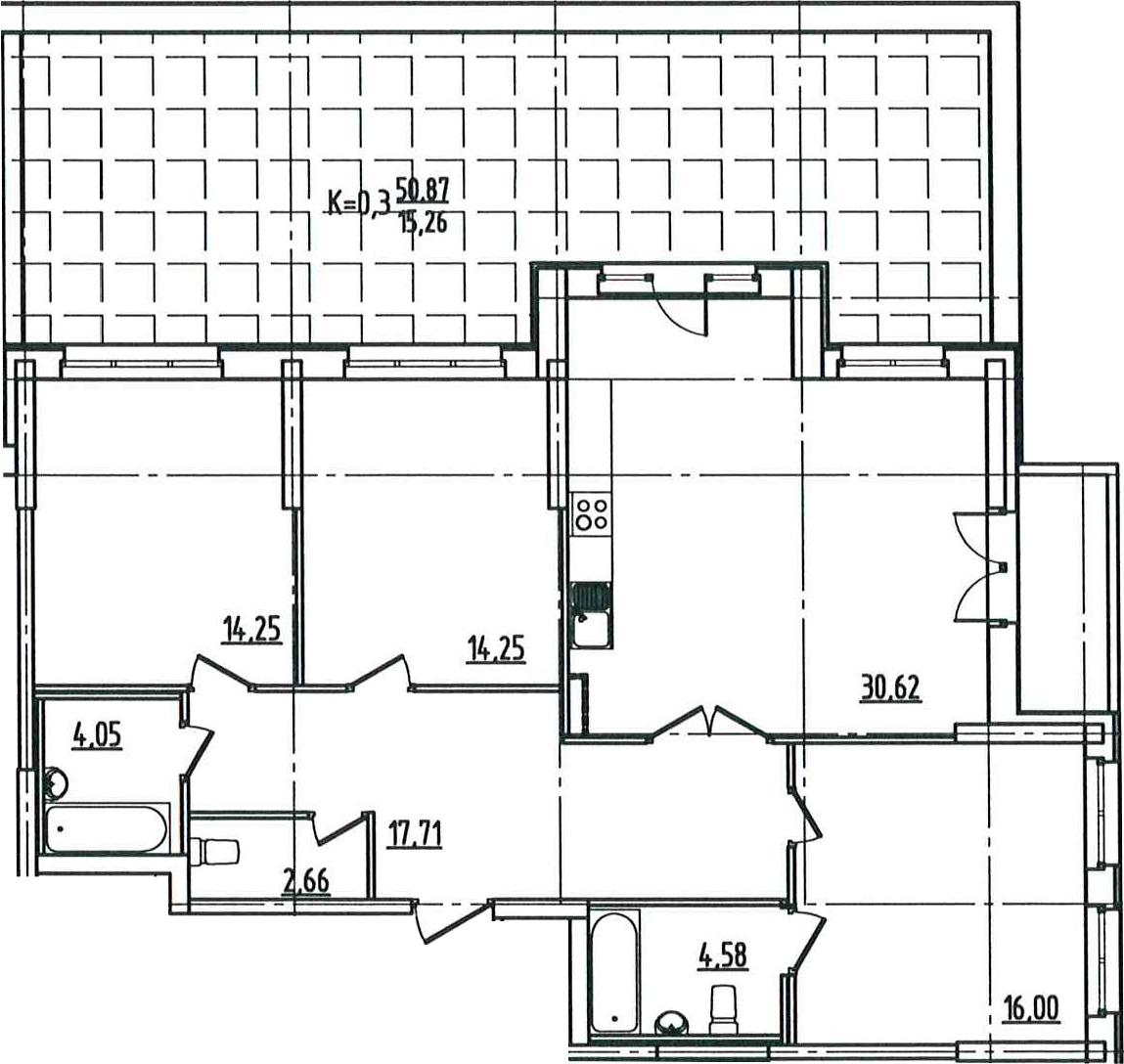 4-к.кв (евро), 158.9 м²