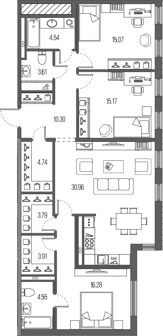 4-к.кв (евро), 112.92 м²