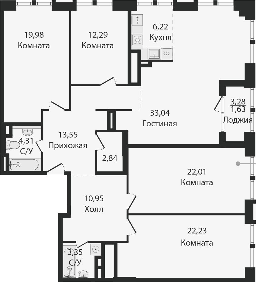 5Е-к.кв, 152.4 м²