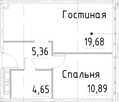 2Е-к.кв, 40.57 м², от 17 этажа