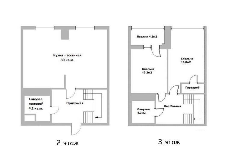 3Е-комнатная, 87.06 м²– 2