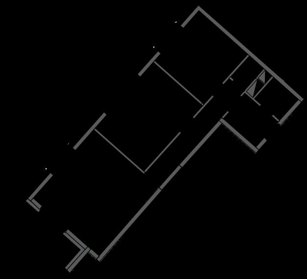 2-комнатная, 60.7 м²– 2