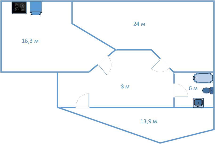 2Е-к.кв, 62.2 м²