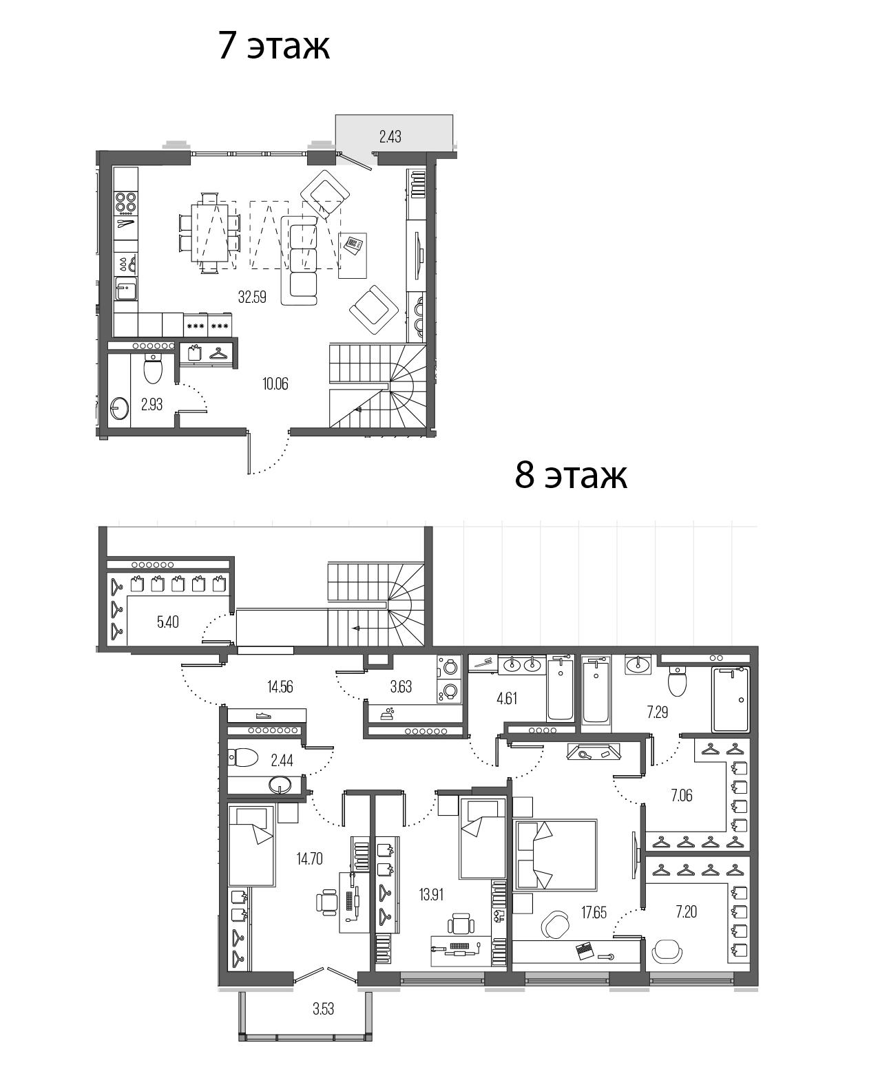 4Е-комнатная, 144.03 м²– 2