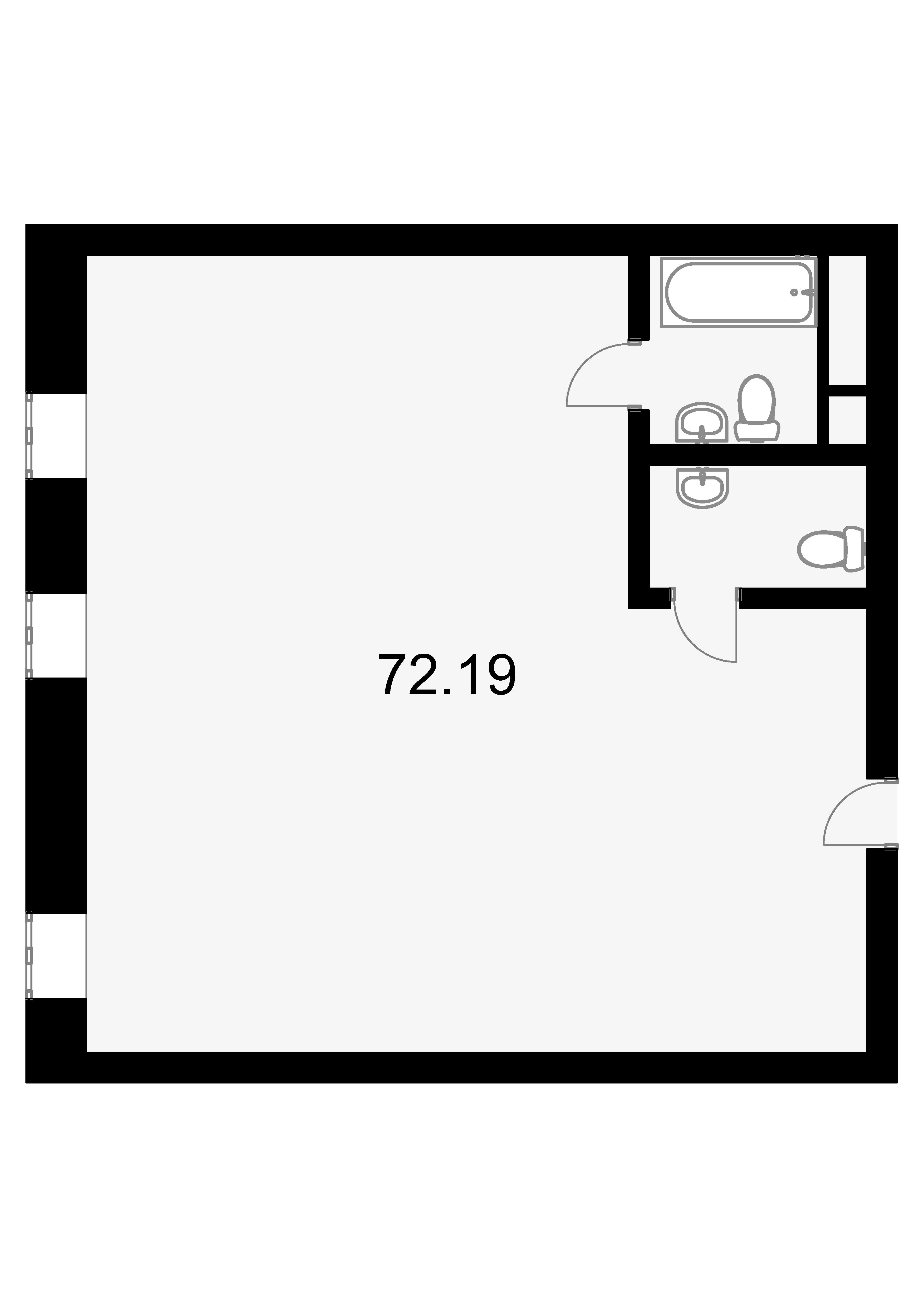 Свободная планировка, 71.4 м²– 2