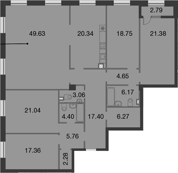 5-к.кв, 199.89 м²