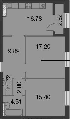 3-к.кв (евро), 70.32 м²