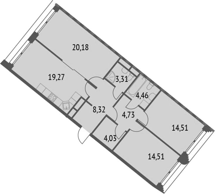 4-к.кв (евро), 93.32 м²