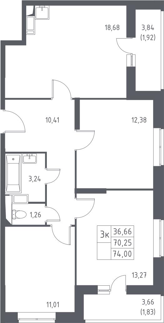 4-к.кв (евро), 77.75 м²