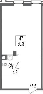 Своб. план., 50.3 м²