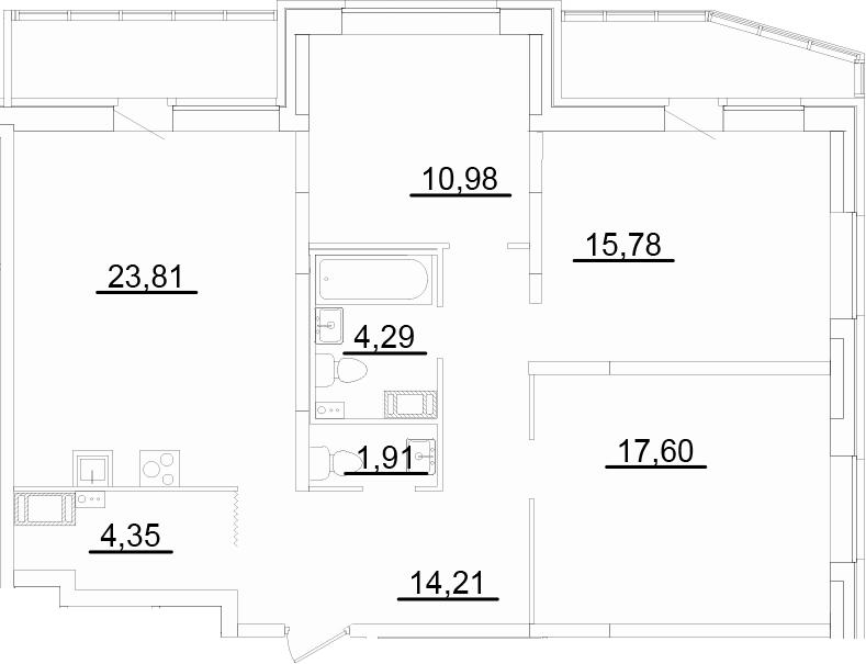 4Е-к.кв, 97.69 м²