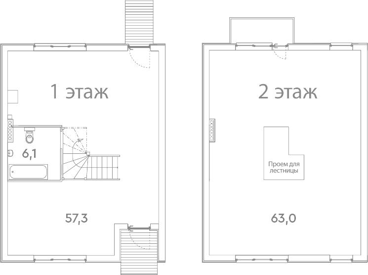 Таунхаус, 127.4 м²– 2