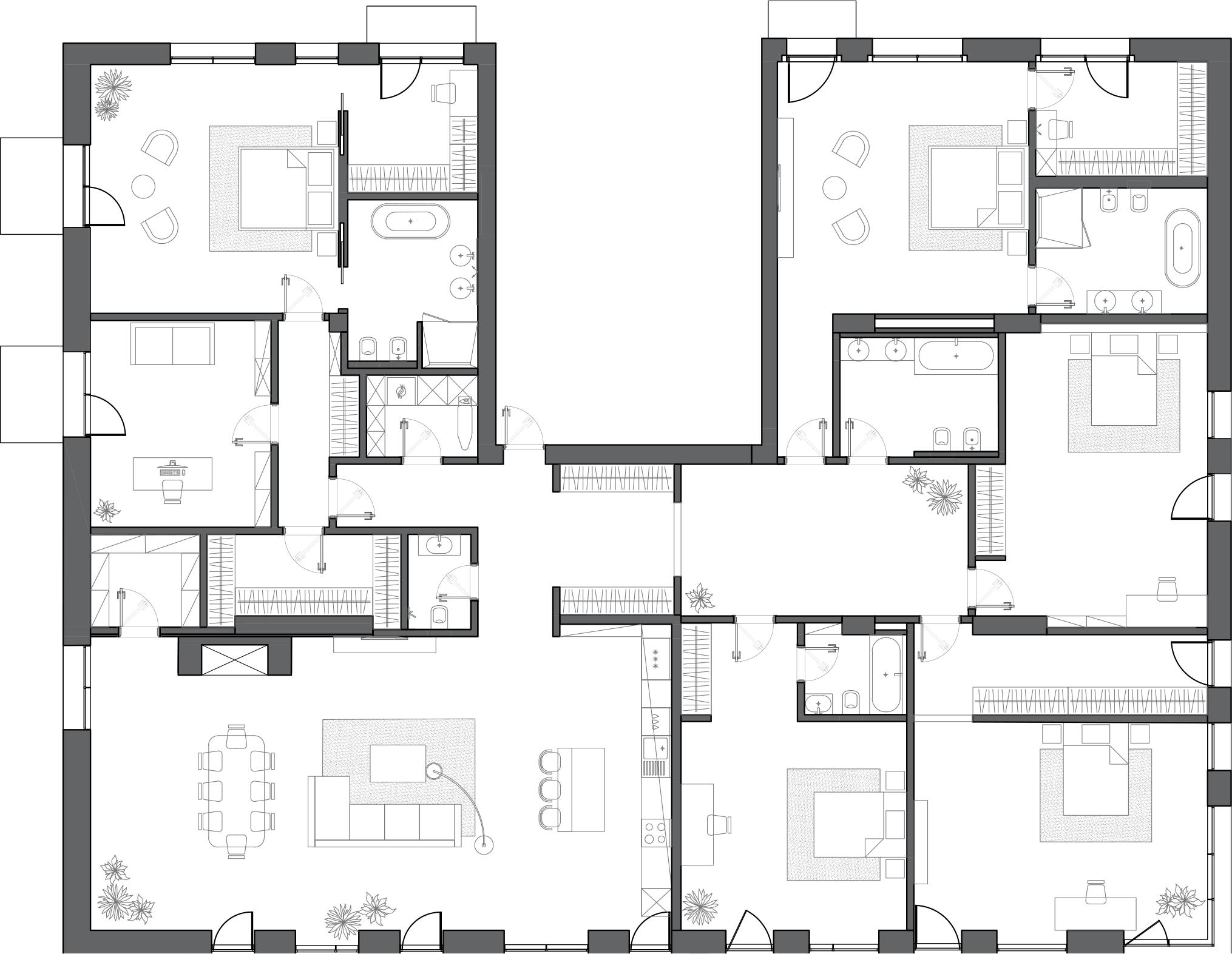 Свободная планировка, 418 м²– 2