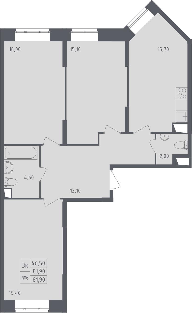 3-к.кв, 81.9 м²