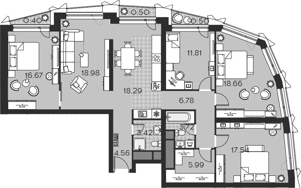 5Е-к.кв, 127.82 м²