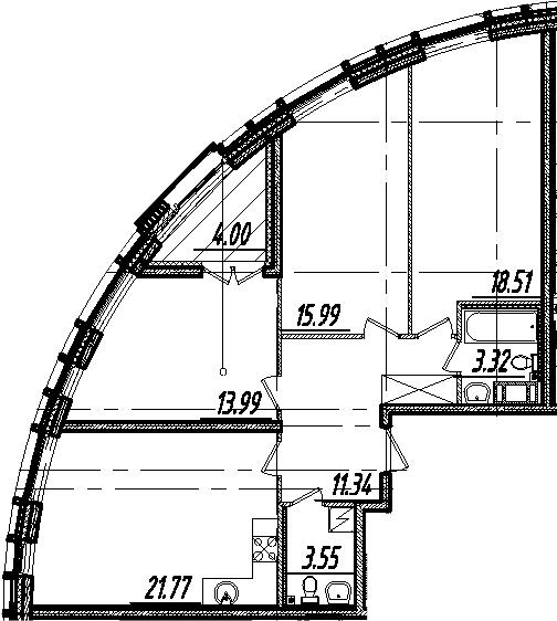 4Е-к.кв, 90.47 м²