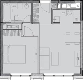 Свободная планировка, 41.4 м²– 2
