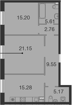 3Е-к.кв, 74.72 м²