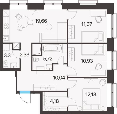 3-к.кв, 79.97 м²